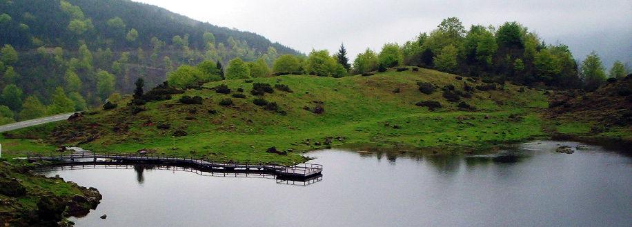 Ponton de l'étang de Lers